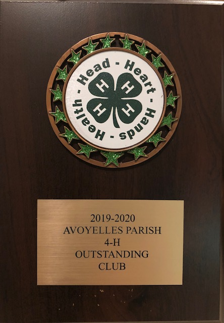 """RRCA 4-H """"Most Outstanding Club in Avoyelles"""""""